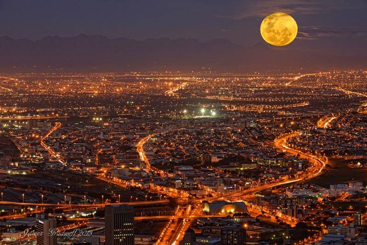A full moon over the city like last night