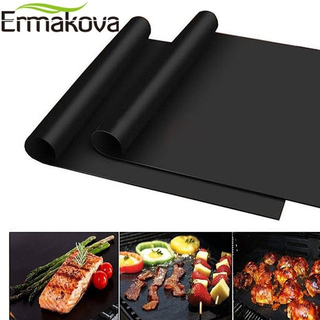 Ermakova Bbq Grill Mat Non Stick 0 2mm Extra Thick Baking Mat Bbq
