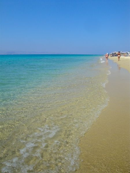 Plaka beach in Naxos, love the water!