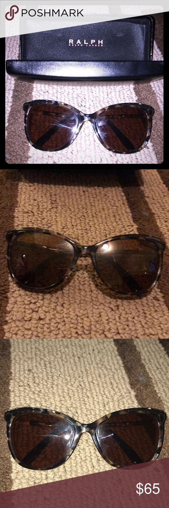 Ralph RX sunglasses No lenses for RX frames and original case. RA5203 hardly used in new condition pretty tortious color brown and black with hints of silver will look great with brown or grey lenses Ralph Lauren Accessories Sunglasses
