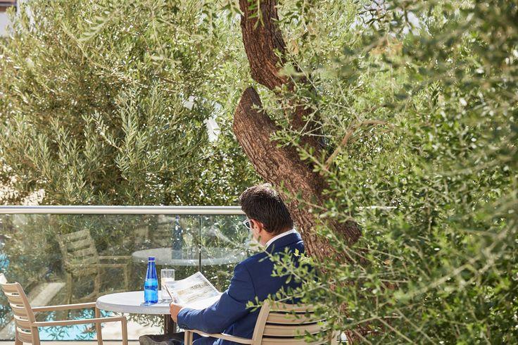Enjoy the open-air terrace overlooking the gardens and the swimming pool of Civitel Attik!!  #EspritAthens #AttikAthens