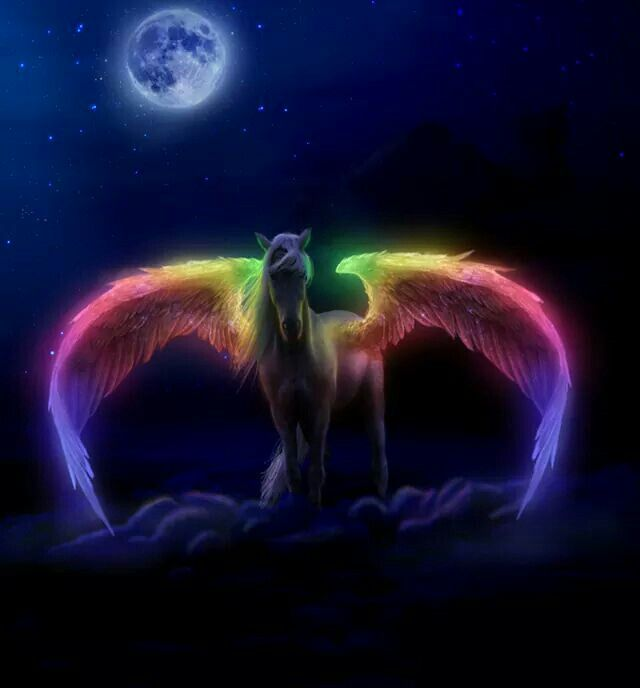 Unicorn With Wings And Rainbow 1000+ images ab...