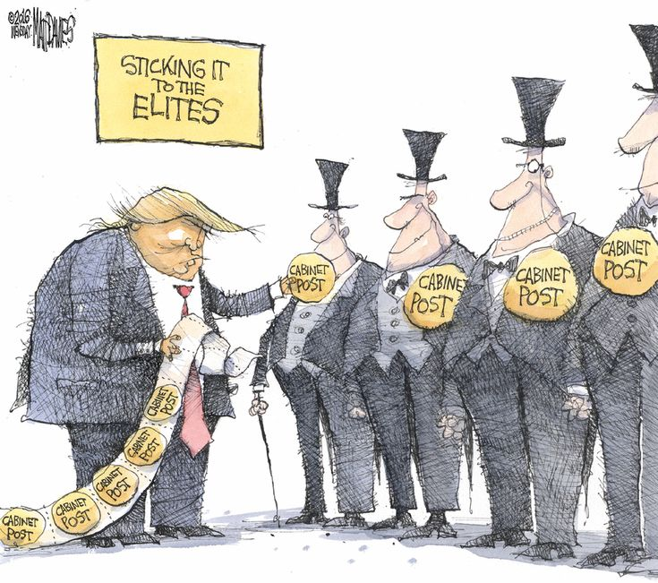 Image result for trump defeats elites cartoon