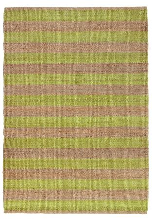 Armadillo and co Nest Weave Awning Stripe rug in Citrus & Natural - Image Citrus/Natural