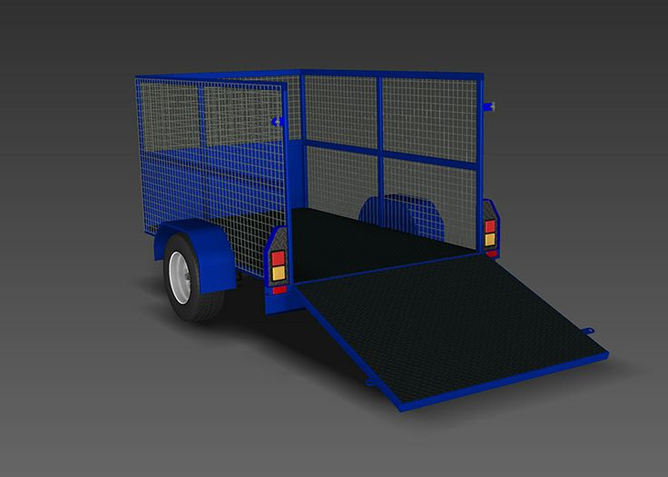 www.trailerplans.com.au Build your own CAGE TRAILER - Trailer Plans - Designs & drawings for trailer construction