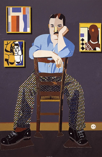 Arroyo, Eduardo (1937- ) - 2007 Portrait of the Painter Fernand Leger (Private Collection), via Flickr.
