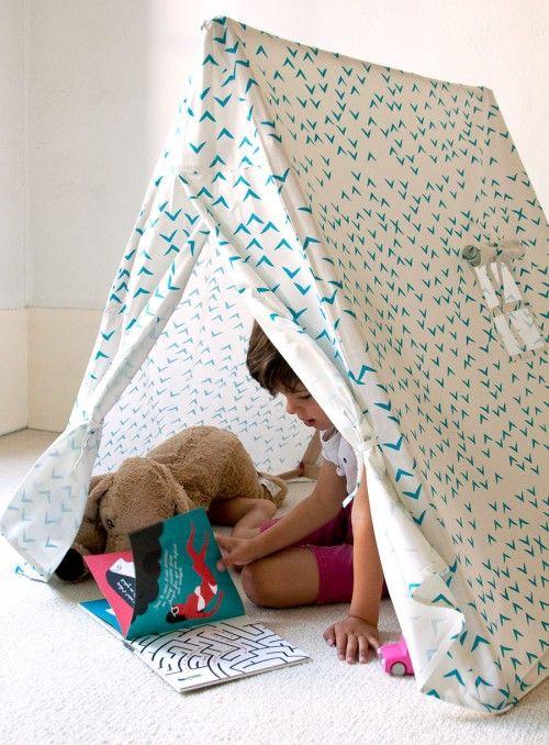 La tente bleue : en coton bio et bois du jura - Deuz