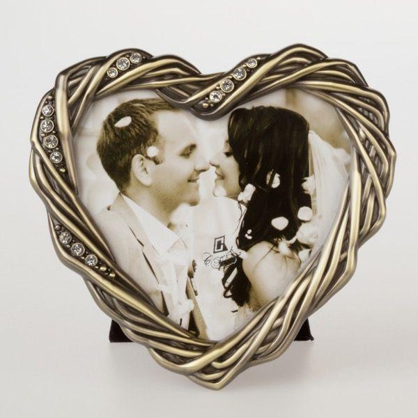 Złota ramka w kształcie serca 10×10 cm | 31,00 PLN