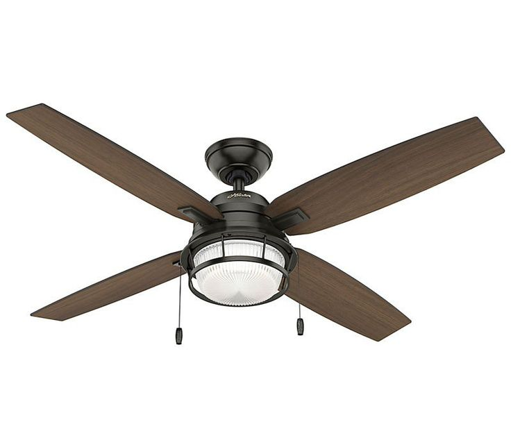 Whether your style is industrial or coastal, this versatile fan is the perfect fit. Choose between finishes to fit your decor. The Ocala proudly showcases its textured caged glass as a beacon of on-trend design. The powerful motor works with the strong blades to move a lot of air, and the LED bulbs are fully dimmable to adjust to your needs.
