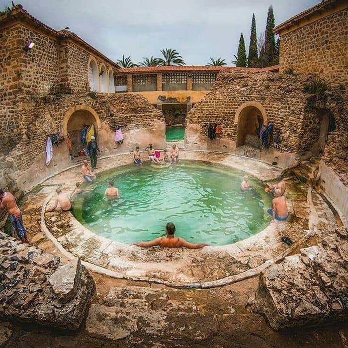 A Roman Bathhouse Still In Use After 2 000 Years In Khenchela Algeria Roman Bath House Roman Baths Bath House