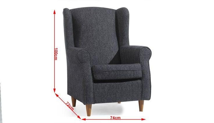 Resultado de imagen para medidas de sillones individuales
