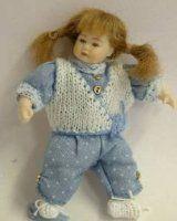 Heidi Ott Dolls House Doll, Toddler Girl with Plaits
