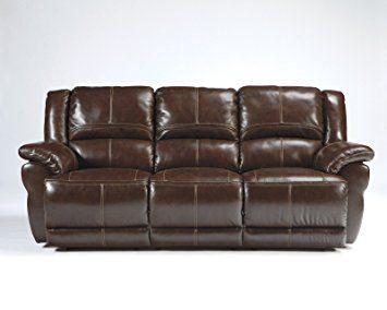 Ashley Furniture Signature Design Lenoris Reclining Sofa Recliner Coffee Brown Review