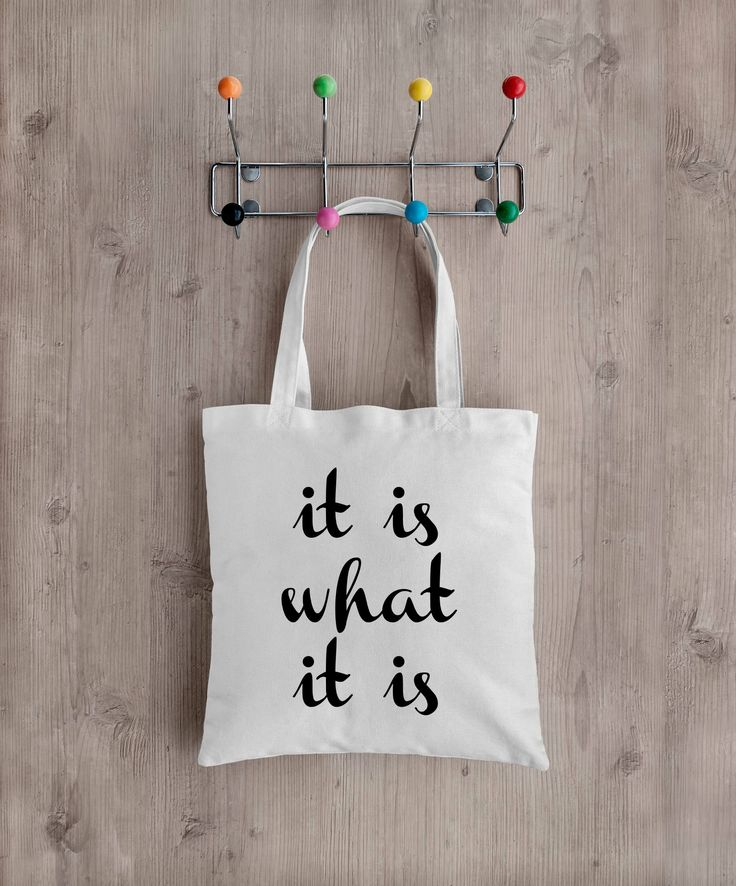 It is what it is Tote bag, Market Bag, Recycled, Eco Friendly,  School bag, Environmentally friendly, bits and bobs by PepperDoodles on Etsy
