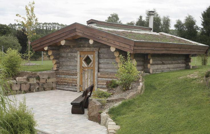 Rustikal und gemütlich: #Saunahaus von #TEKA #Saunabau. http://www.teka-sauna.de/teka-sauna-home/saunahaeuser #Gartensauna #Außensauna
