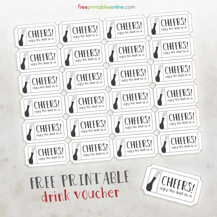 complimentary drink ticket template - cheers free printable drink vouchers free printables