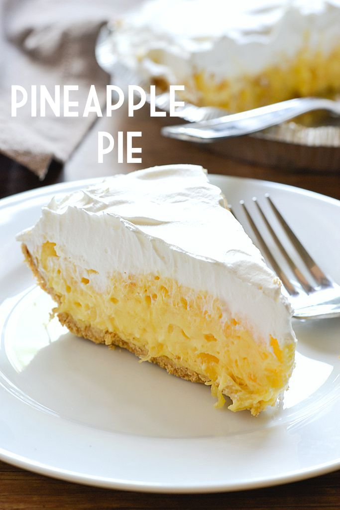 5 Minute Dessert: Pineapple Pie...this sounds like the easiest pie ever! Combine a can crushed pineapple, 1c sour cream, 2 packs instant vanilla pudding mix. Pour into pie crust and chill