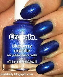 Crayola By Fing Rs Scented Nail Polish Blueberry Berryblue Nail Polish Nails Polish