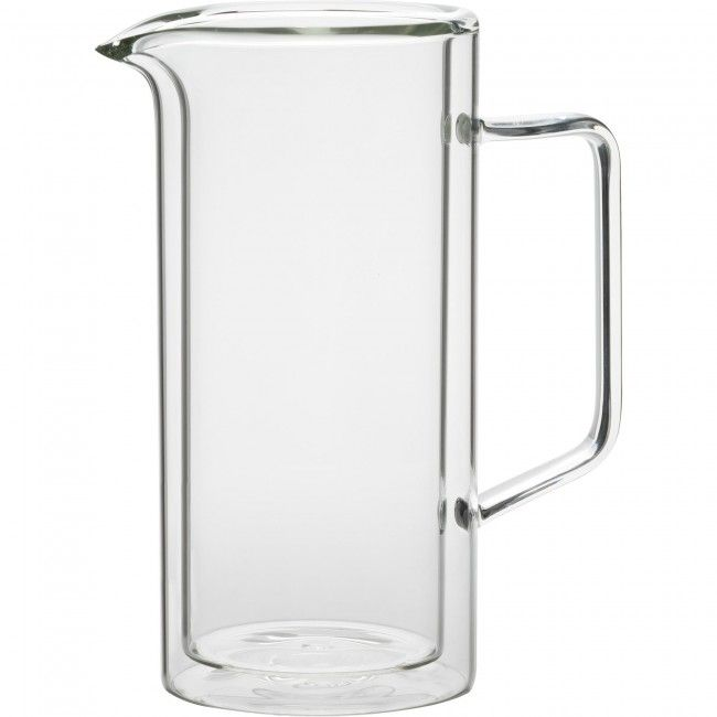Serve your favourite beverages with the Trudeau Duetto Double Wall Pitcher. Double wall construction creates a thermal barrier that helps keep your drinks cool for longer.