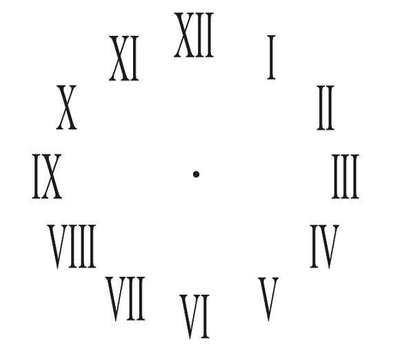 Clock STENCILRoman Numerals Clock 11x11 diameter by OaklandStencil