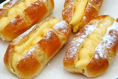 pudding broodje van Bakker Bart