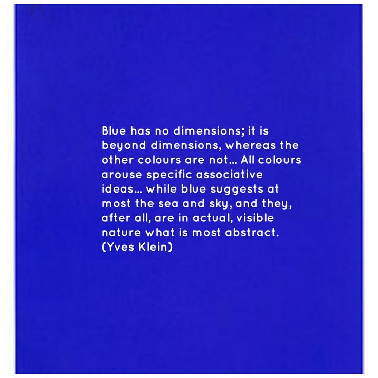 Artist Yves Klein's obsession with blue