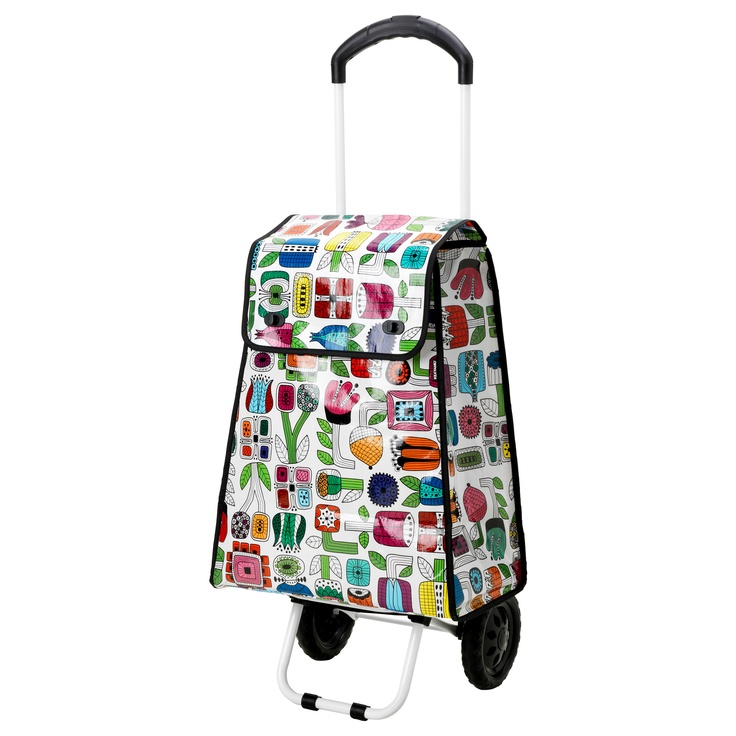 Prydlig shopping bag with wheels ikea nesting things for Ikea luggage cart