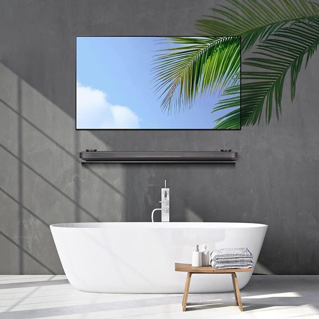 This ultra-thin television from @lg_signature displays photo-realistic images when not in use. #LGOLEDTV #WallpaperTV - Architecture and Home Decor - Bedroom - Bathroom - Kitchen And Living Room Interior Design Decorating Ideas - #architecture #design #interiordesign #homedesign #architect #architectural #homedecor #realestate #contemporaryart #inspiration #creative #decor #decoration