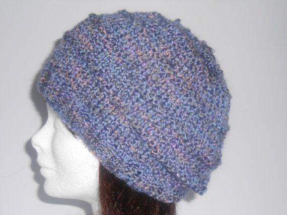 Hand knitted hat. Women's knit hat. Women's Slouch by AluraCrafts