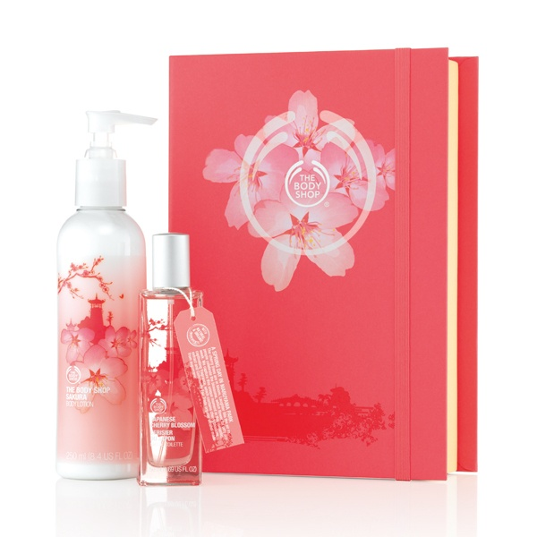 Japanese cherry blossom pack from Body Shop
