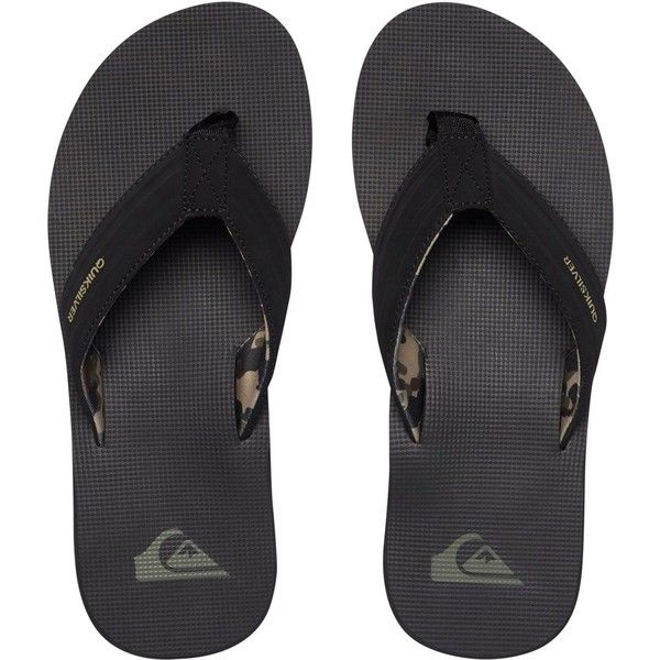 Quiksilver Men's Island Oasis Sandals ($30) ❤ liked on Polyvore featuring men's fashion, men's shoes, men's sandals, camo, mens beach sandals, mens beach shoes, mens shoes, mens camo shoes and mens sandals