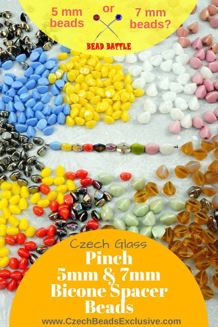 ? Bead Battle! 5mm or 7mm Pinch Beads? Write in comments! ? Czech Glass Pinch 5mm And 7mm Bicone Spacer Beads  55 New Colors & Finishes! - Buy now with discount!  Hurry up - sold out very fast! www.CzechBeadsExclusive.com/+pinch SAVE them! ??Lowest price from manufacturer! Get free gift! 1 shipping costs - unlimited order quantity!  Worldwide super fast ?? shipping with tracking number! Get high wholesale discounts! Sold with  at http://www.CzechBeadsExclusive.com #CzechBeadsExclusive…