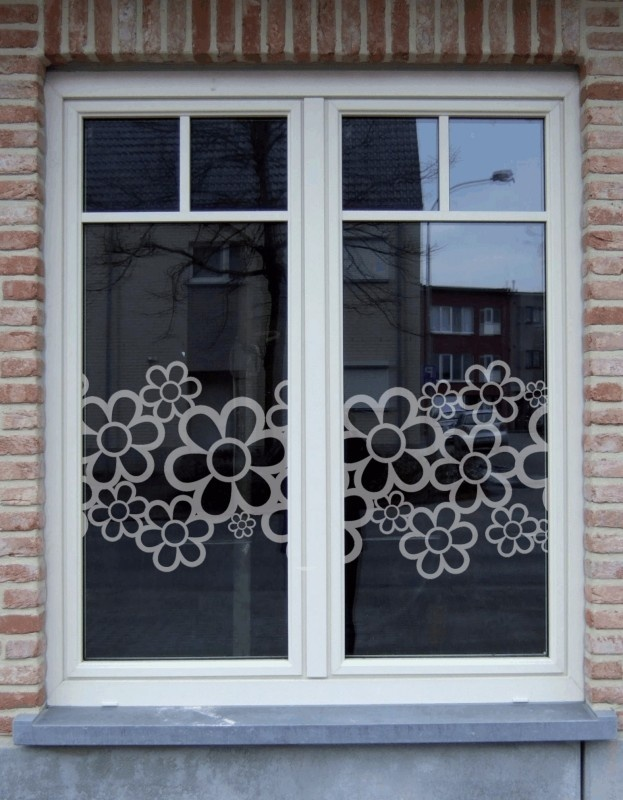 Raamfolie bloemen | Motief raamfolie | Interieurstickers - Atelier Rosa Lyne
