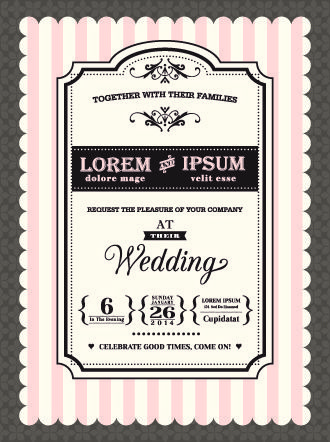 Retro wedding invitations cards design vector Free vector in Encapsulated PostScript eps ( .eps ) vector illustration graphic art design format format for free download 1.24MB. Vector Card, cards, invitation, reed, retro, wedding