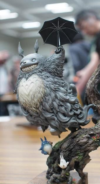 Totoro - diorama plastic model - at the 2015 Amazing Japan Model Expo