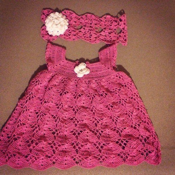 Платье и повязка для малышки