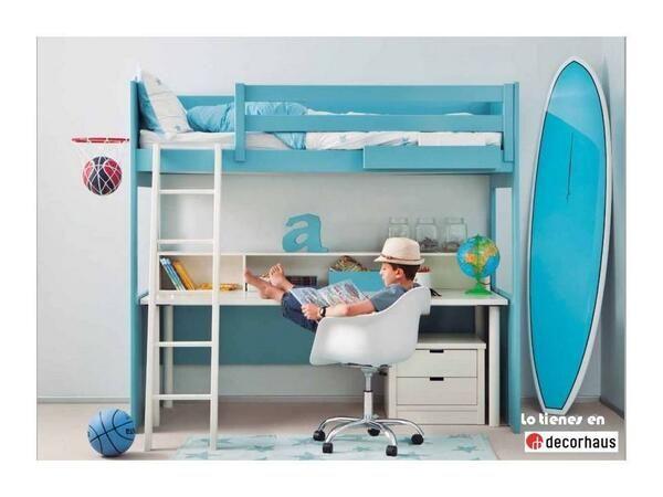 Dormitorio litera cama alta / Youth bedroom http://www.decorhaus.es/es/ #muebles #Málaga