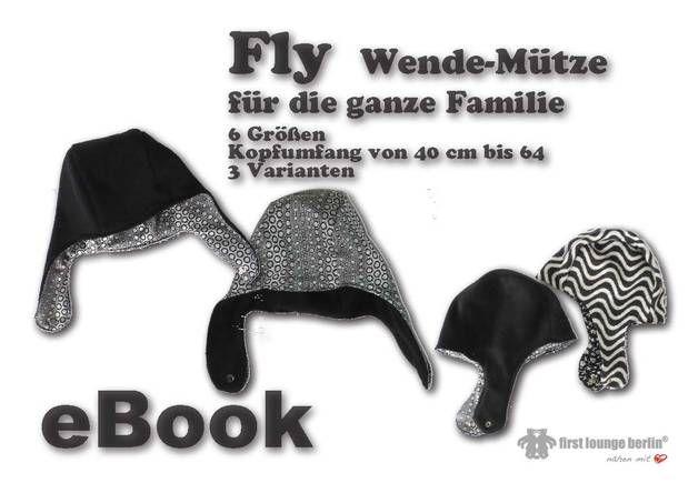 Herrenmode - Fly♥ eBook Wende-Mütze Fliegermütze Schnittmuster - ein Designerstück von firstloungeberlin bei DaWanda