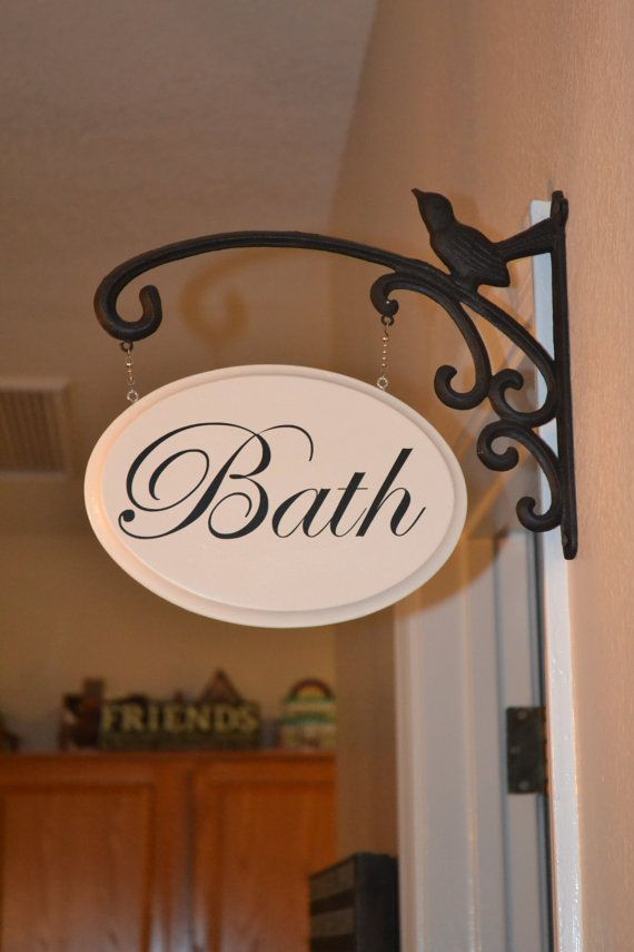 Hanging Bath Sign by CVivCreate on Etsy