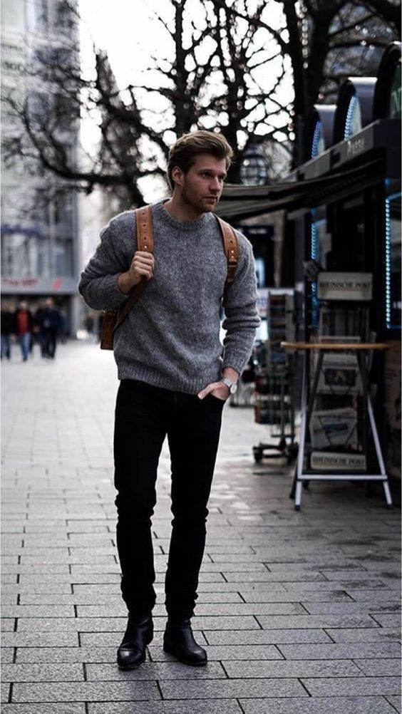 35+ beautiful winter outfits for men 8