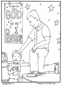 Coloring sheet & ideas for Pastor appreciation Sunday (2nd Sunday in Oct)