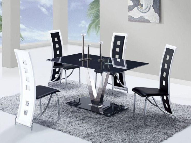 Likeness of Get Simple Look With Black Dining Room Sets