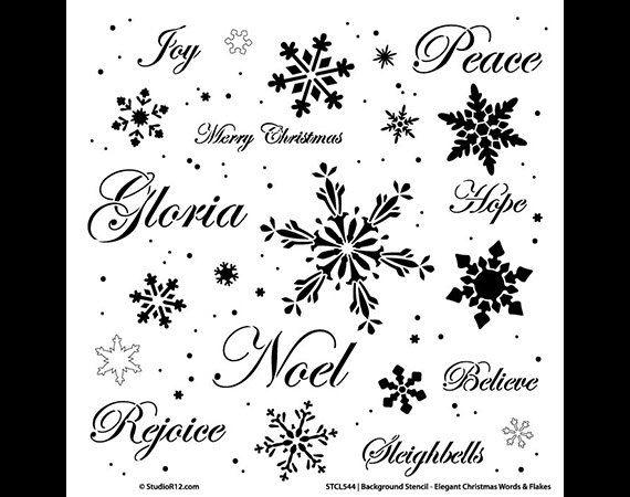 Sfondo parole Stencil  parole di Natale elegante & di StudioR12