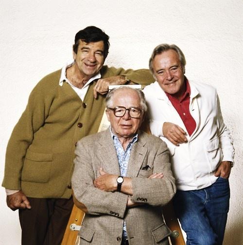 Walter Matthau, Billy Wilder and Jack Lemmon