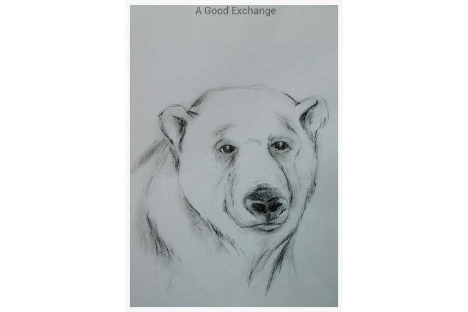 Bear Print by TERRY ANGELOS ART