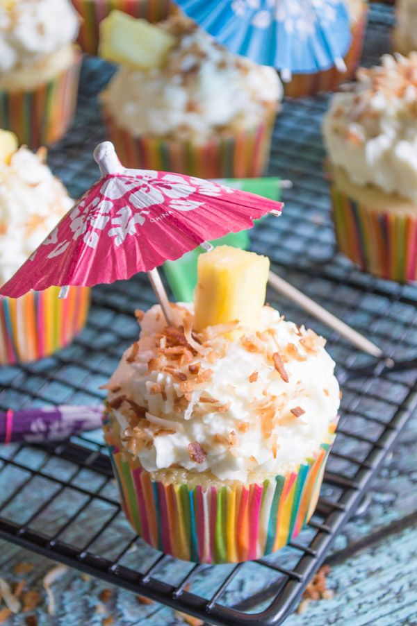 Piña Colada Cupcakes — Fashionable Foods