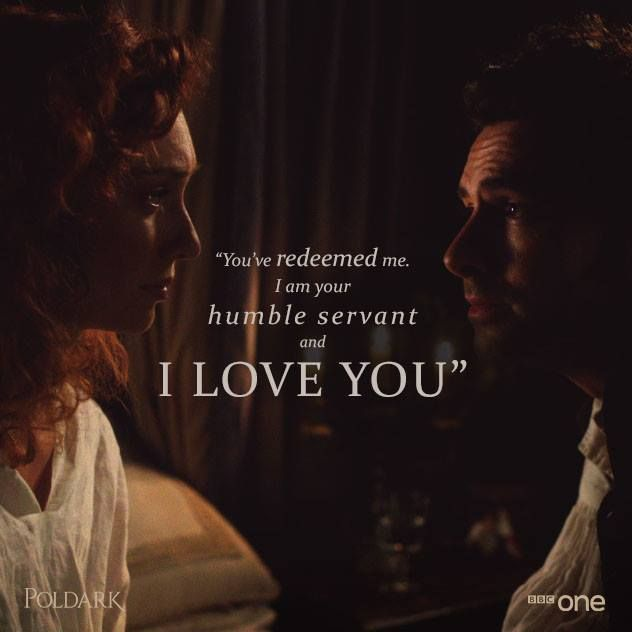Poldark [2015] 1x4 - Ross tells Demelza he loves her for the first time. ♥
