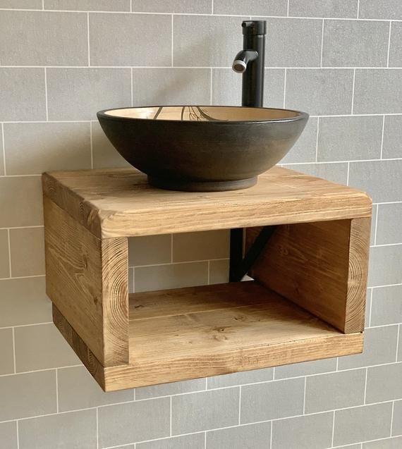 Sink Unit Hand Crafted Rustic Bathroom