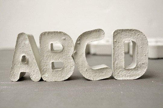 Cement letters - diy them!
