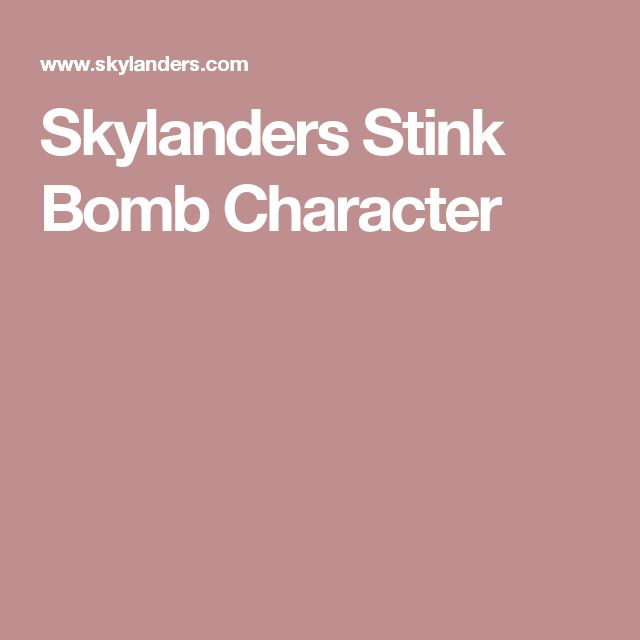 Skylanders Stink Bomb Character